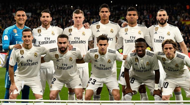 Real Madrid formado durante uno de los partidos ante Barcelona