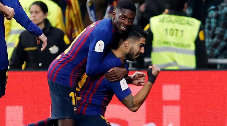 Ousmane Dembélé y Luis Suárez - Barcelona 2018-2019