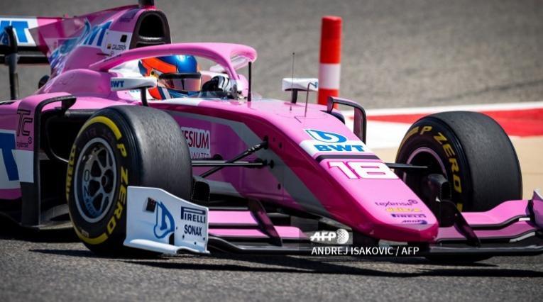 La colombiana Tatiana Calderón durante su debut con el BWT Arden en la Fórmula 2
