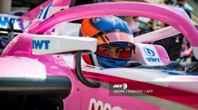 Tatiana Calderón durante la segunda carrera de la Fórmula 2 en Baréin