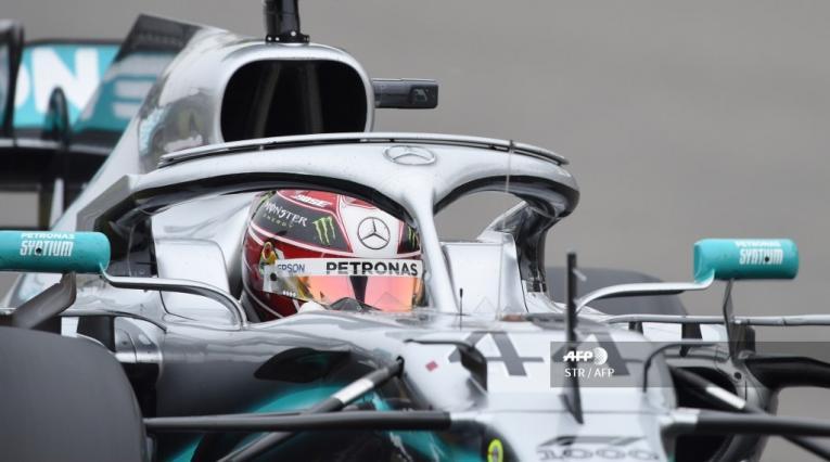 Lewis Hamilton durante el Gran Premio de China de la Fórmula 1 2019.