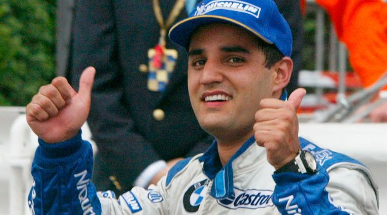 Juan Pablo Montoya cuando ganó el Gran Premio de Mónaco con la escudería Williams.