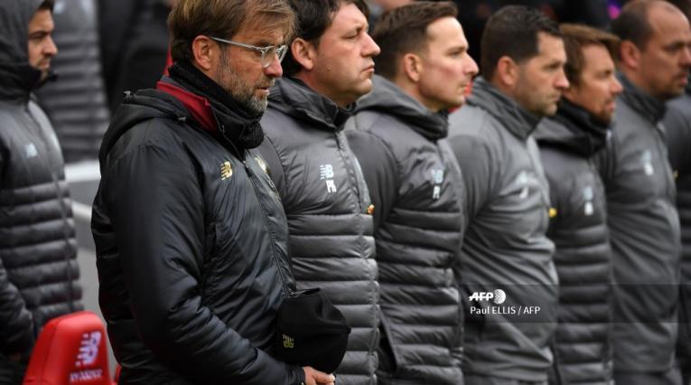 El técnico del Liverpool, Jurgen Klopp, durante la conmemoración de los 30 años de la tragedia de Hillsborough.