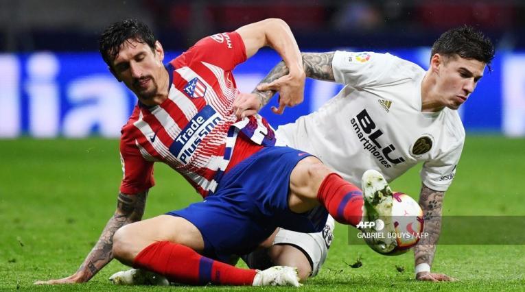 Atlético de Madrid venció 3-2 al Valencia en la Liga española