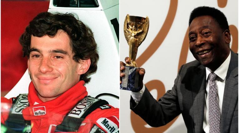 Ayrton Senna y Pelé