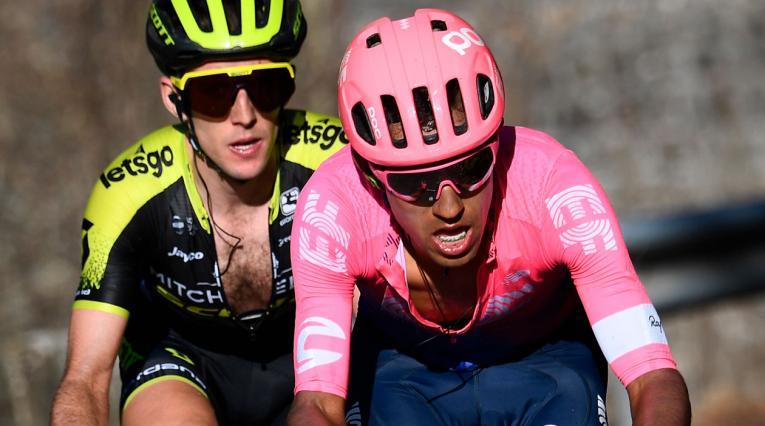 Daniel Martínez del Education First tuvo una destacada labor en la Vuelta al País Vasco