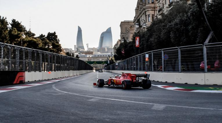 Ferrari dominó los ensayos libres del Gran Premio de Azerbaiyan 2019