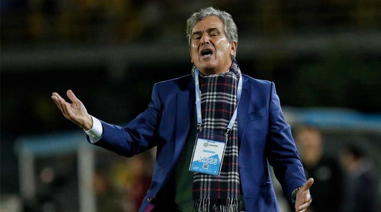 Jorge Luis Pinto durante el juego donde Millonarios perdió 2-1 ante Tolima