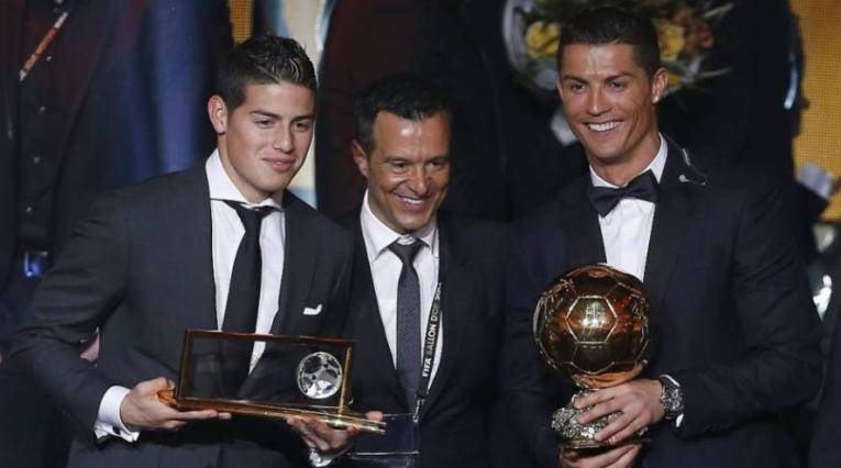 James Rodríguez, Jorge Mendes y Cristiano Ronaldo
