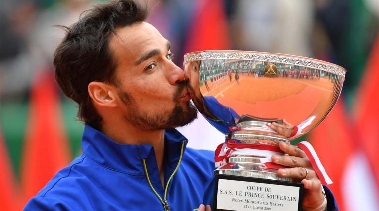 Fognini quedó campeón en Montecarlo