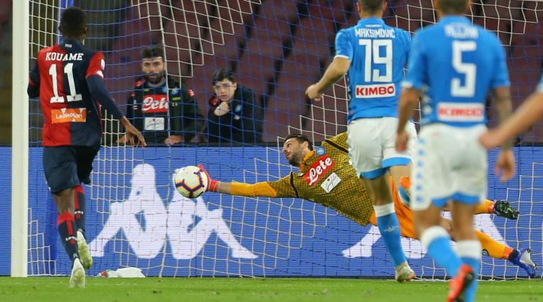 Nápoles empata 1-1 ante Génova