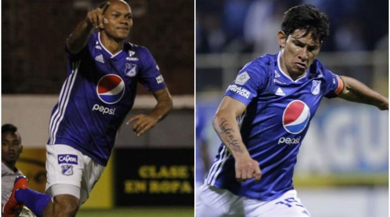 Juan David Pérez y Roberto Ovelar en Millonarios