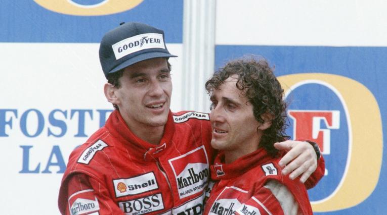 Alain Prost y Ayrton Senna
