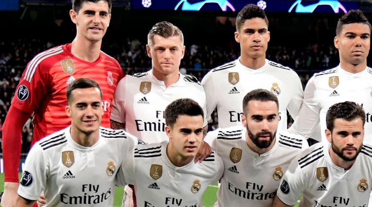 Toni Kroos formado con la escuadra del Real Madrid