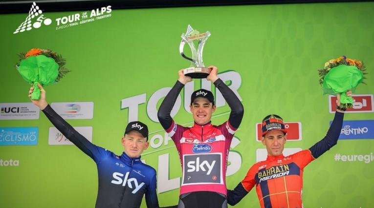Podio Tour de los Alpes 2019