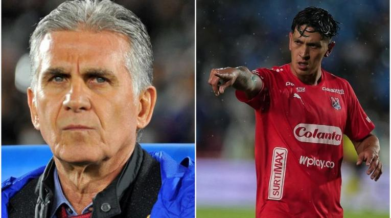 Carlos Queiroz y Germán Cano