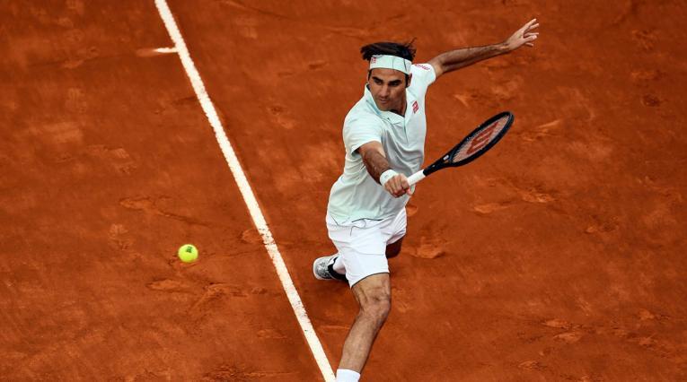 Roger Federer en uno de los partidos en el Masters 1000 de Madrid.