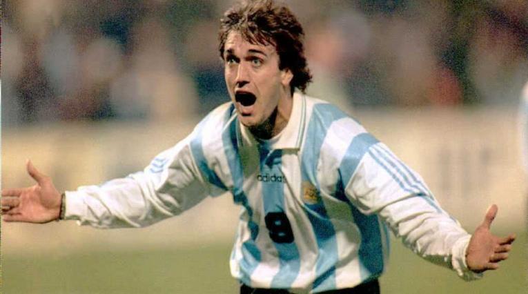 Gabriel Batistuta, uno de los goleadores históricos de la Copa América