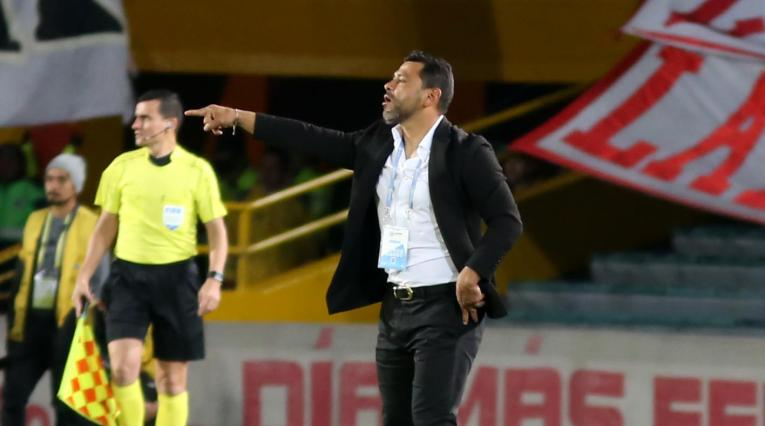 Gerardo Bedoya, técnico interino de Independiente Santa Fe,
