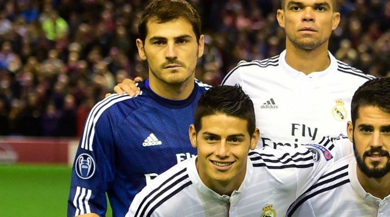 James · Real Madrid · Íker Casillas