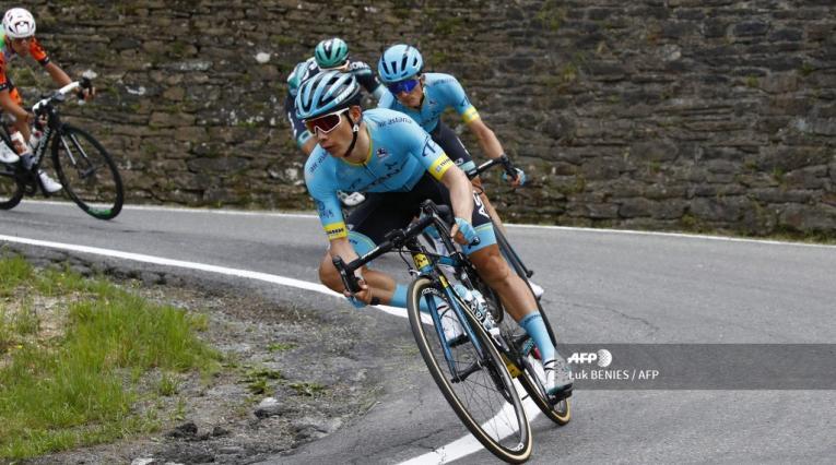 Miguel Ángel López, ciclista colombiano del Astana Team