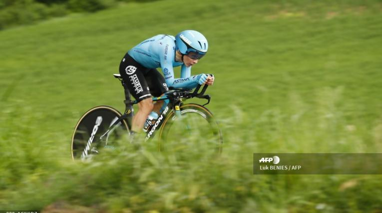 Miguel Ángel López en el Giro de Italia
