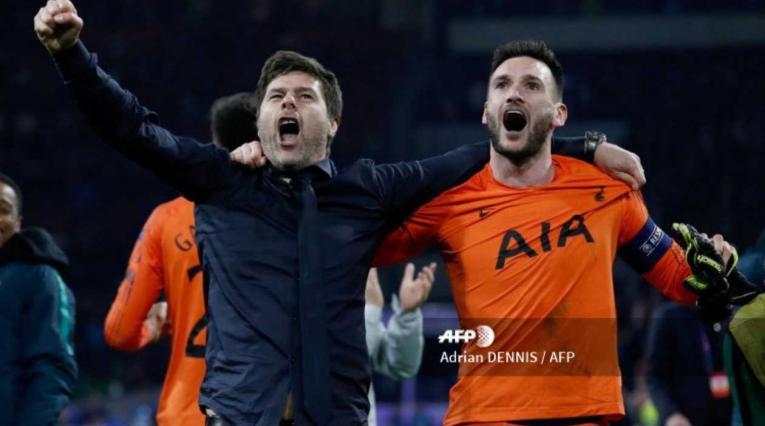 Mauricio Pochettino y Hugo Lloris - Tottenham Hotspur