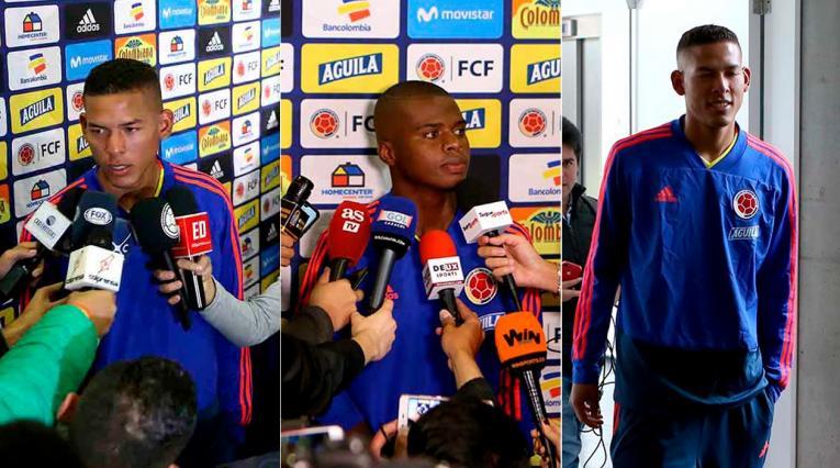 Andrés Amaya, Deiver Caicedo y Sebastián Palma de Colombia Sub-20
