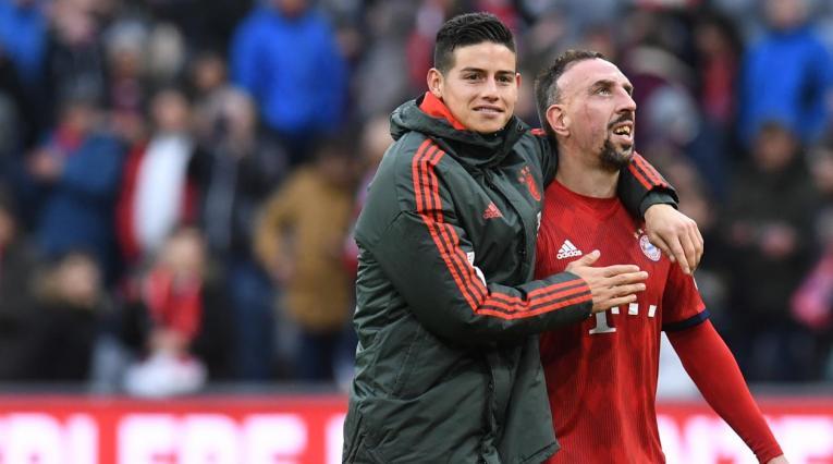 James Rodríguez y Franck Ribery