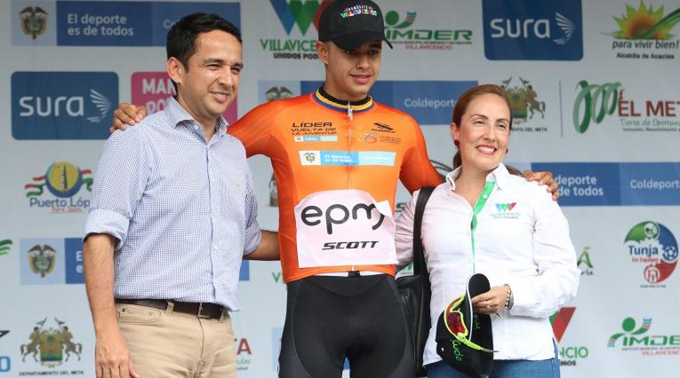 Miguel Ángel Sarmiento, líder de la Vuelta de la Juventud