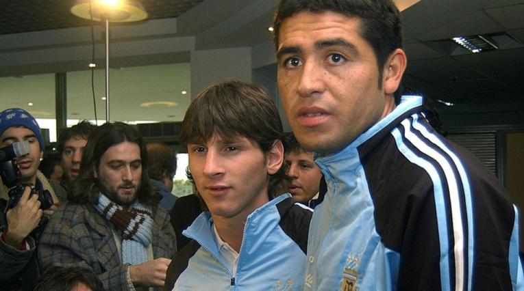 En el año 2005 en concentración con la selección Argentina.