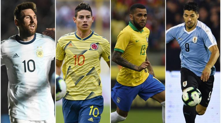 Argentina, Colombia, Brasil y Uruguay