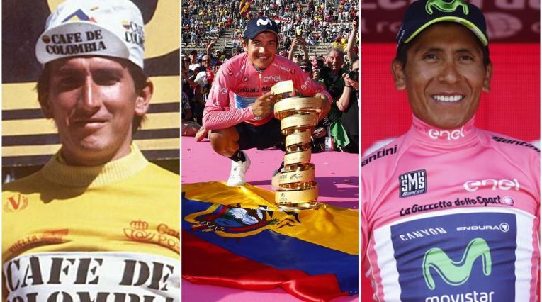 'Lucho' Herrera, Richard Carapaz y Nairo Quintana