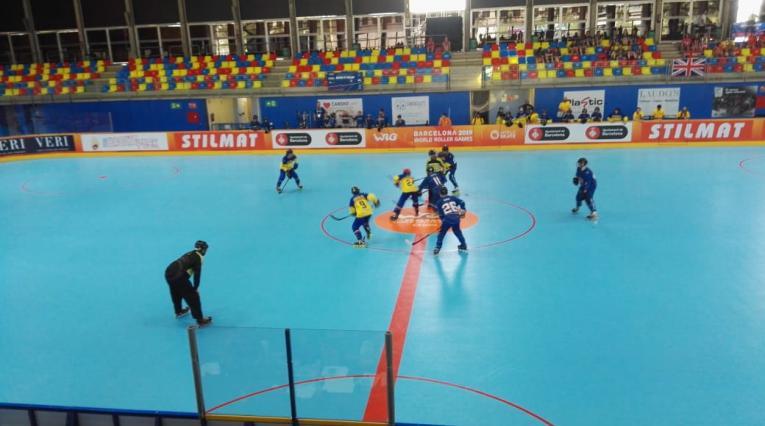 Selección Colombia Manzana Postobón junior Hockey línea