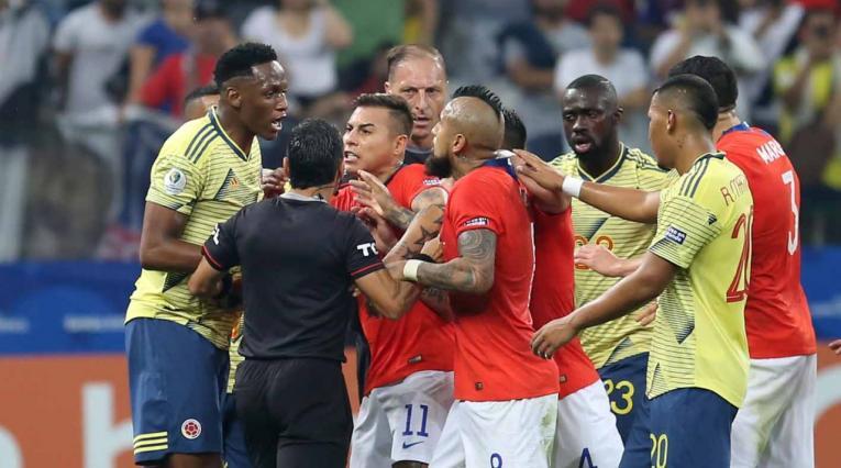 Yerry Mina - selección Colombia vs Chile