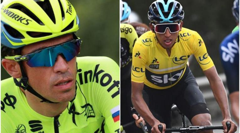 Alberto Contador y Egan Bernal