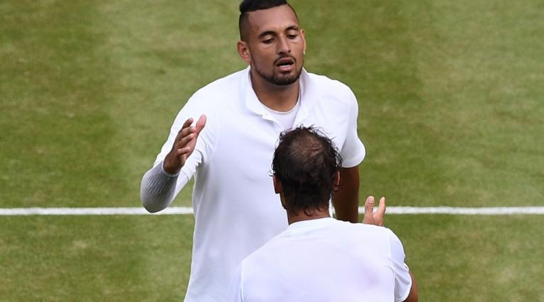 Nick Kyrgios y Rafael Nadal - Wimbledon 2019