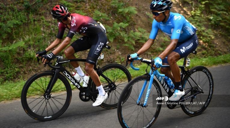 Egan Bernal y Nairo Quintana - Tour 2019