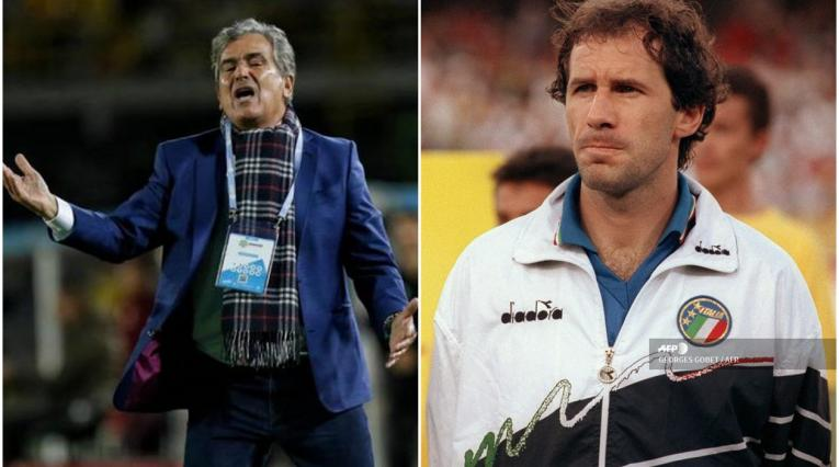 Jorge Luis Pinto y Franco Baresi