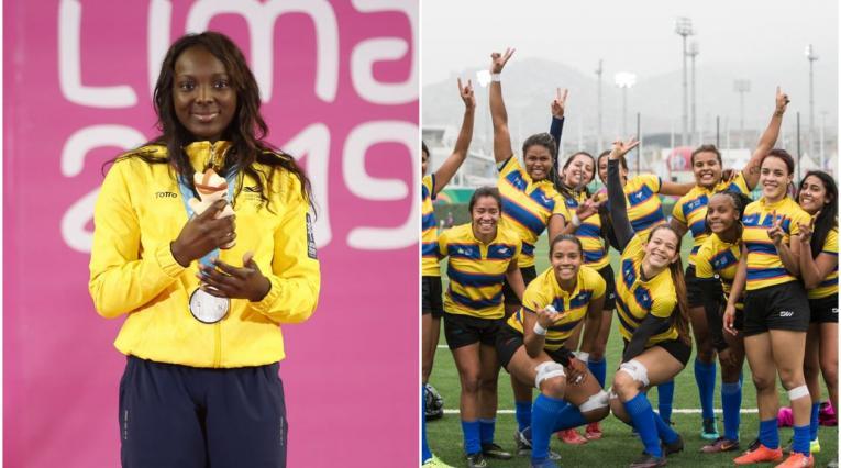 Plata y bronce para Colombia en pesas y rugby