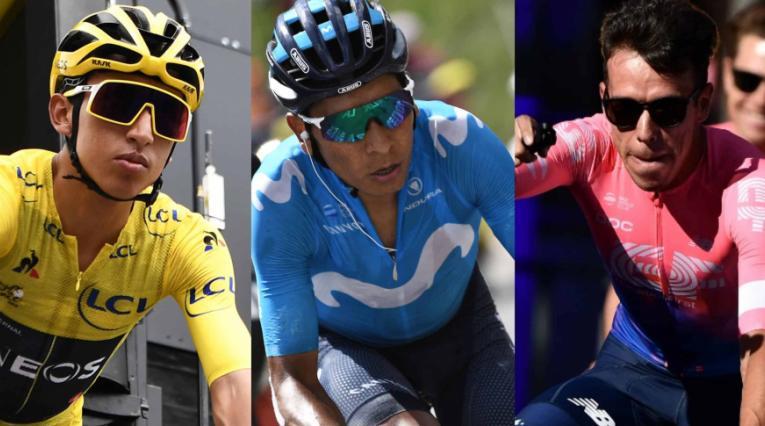 Nairo Quintana y Rigoberto Urán felicitaron a Egan Bernal