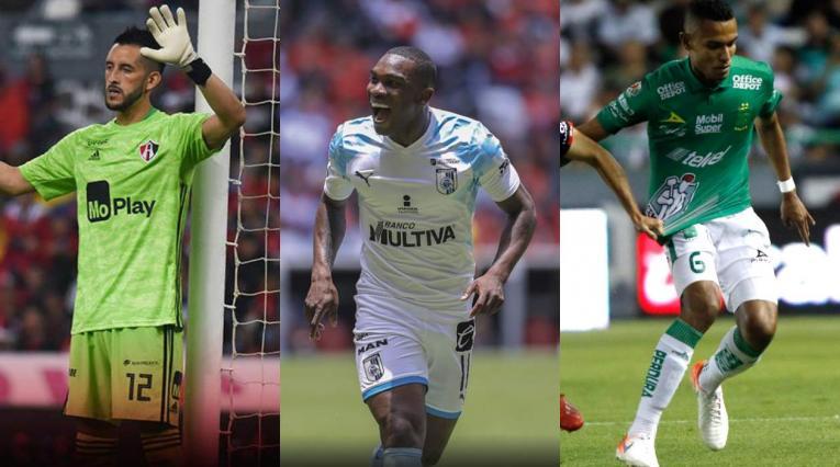 Camilo Vargas, Fabián Castillo y William Tesillo