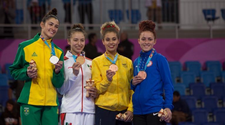 Andrea Ramírez, medalla de bronce en taekowndo