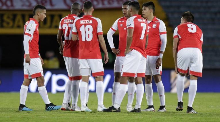 Independiente Santa Fe, jugadores en la cancha
