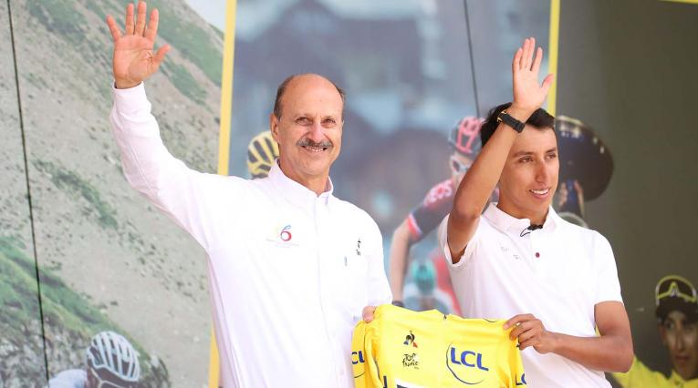 Recibimiento de Egan Bernal tras ganar el Tour de Francia.