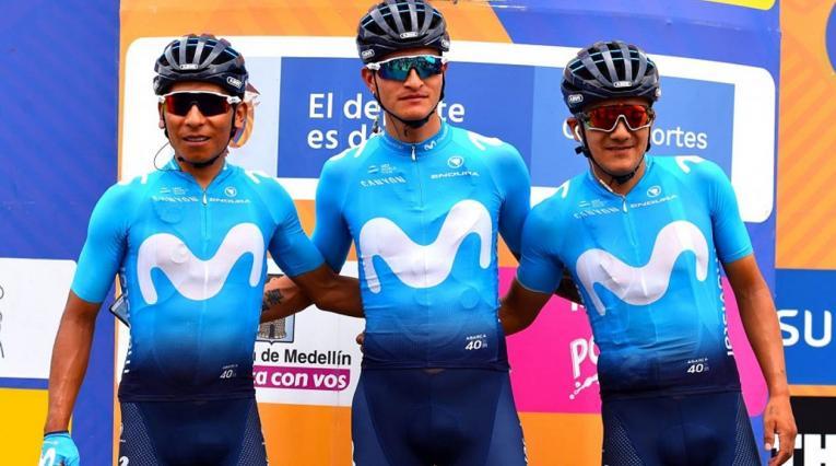 Nairo Quinta, Winner Anacona y Richard Carapaz
