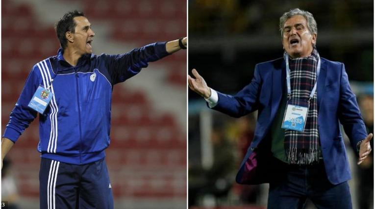 Alexandre Guimaraes y Jorge Luis Pinto