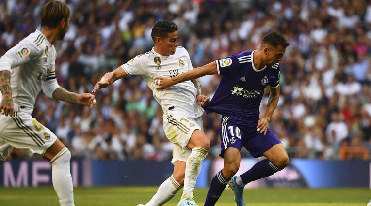 James Rodríguez, en su regreso al Real Madrid