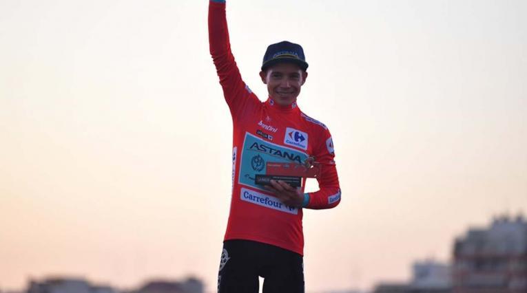 Miguel Ángel López, líder de la Vuelta a España