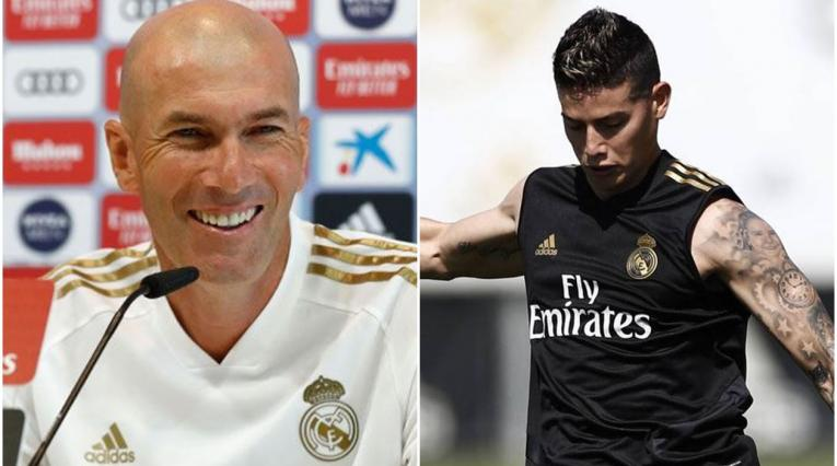 Zidane - James Rodríguez - Real Madrid